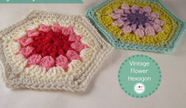 Vintage Flower Hexagon